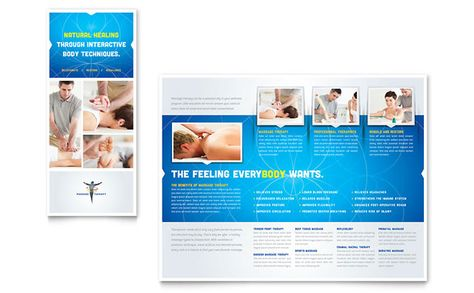 Reflexology and Massage Brochure Design Template by StockLayouts - microsoft word tri fold brochure