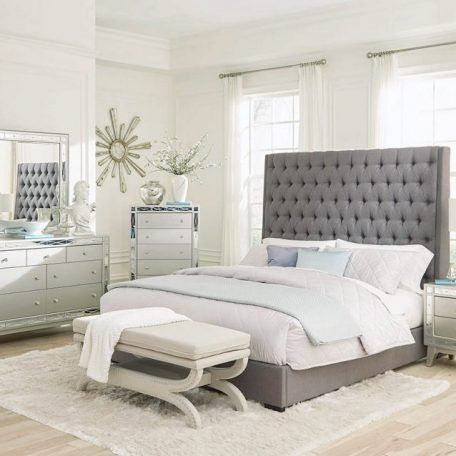 Fabulous Camille Tufted Fabric Upholstered Bedroom Set Fashion In Download Free Architecture Designs Scobabritishbridgeorg