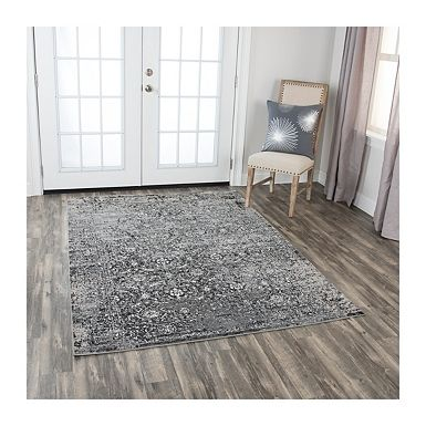 Gray Edward Distressed Area Rug 5x7 Teppichboden