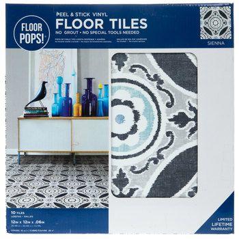 Sienna Peel Stick Vinyl Floor Tiles Hobby Lobby 1879105 In 2020 Vinyl Flooring Peel Stick Vinyl Adhesive Floor Tiles