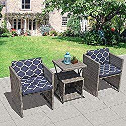 Oc Orange Casual 4 Piece Outdoor Patio Furniture Set Cushioned