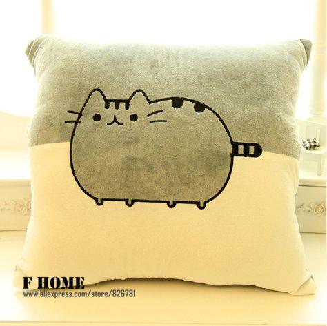 de kat pusheen grote zachte kussen kussen home decor bed autostoel kussen met slapen deken vriendin gift in  van  op Aliexpress.com