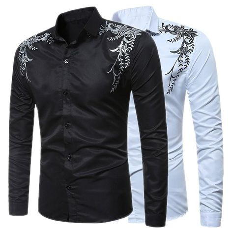 BYWX Men Casual Solid Slim Fit Military Lapel Long Sleeve Buttons T-Shirt Tee