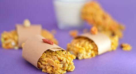 Pochi morsi e riparti di slancio con questo snack croccante a base di cereali e un mix di frutta secca Ingredienti per 8 barrette: Cornaflakes: 70gr. Misto