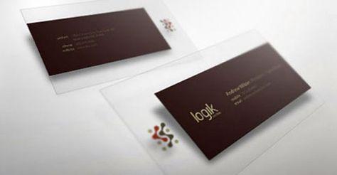 30 Elegant Transparent Business Cards Business Card Design