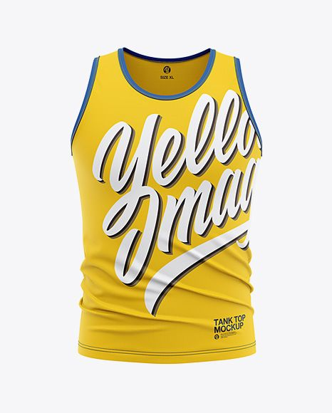 Download Men S Jersey Tank Top Mockup Front View Of Tank Top Shirt In Apparel Mockups On Yellow Images Object Mockups In 2021 Shirt Mockup Clothing Mockup Jersey Tank Tops