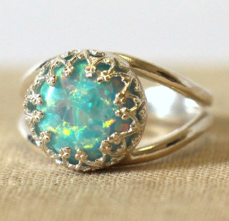 Opal MintMint Green Opal Ring Silver Opal Ring gift for by iloniti