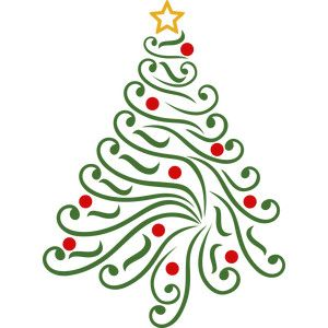 Christmas Tree Swirls Christmas Designs Printable Patterns Silhouette Christmas
