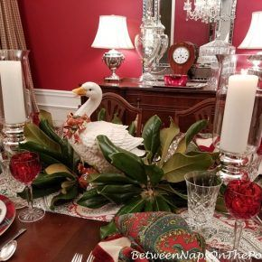 Goose Centerpiece For 12 Days Of Christmas Table Setting Christmas Table Christmas Table Settings 12 Days Of Christmas