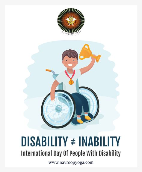 The Person Having Disability is a Person With Great Abilities  On this #WorldDisabilityDay, let's salute the people who have overcome their disability and inspired us with their determination. . . . #InternationalDisabilityDay #Happiness #Success #Disable #Successful #Ability #Disability #Dignity #Rights #NavroopYoga #Yoga