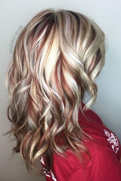 Best 25 Red Blonde Highlights Blonde Brown Hair Color Blonde