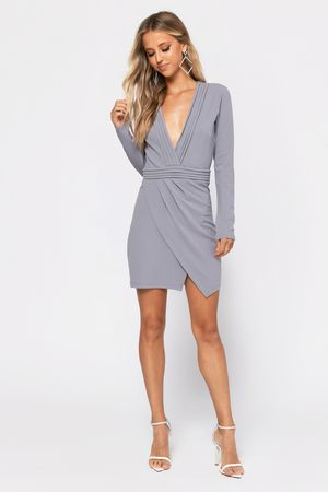 Ava Long Sleeve Bodycon Dress In 2020 Lace Up Bodycon Dress Long Sleeve Plunge Dress Long Sleeve Turtleneck Dress