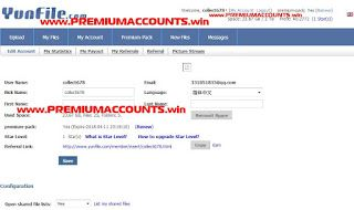 04/02/2018) Yunfile Premium Account 4th February 2018