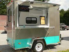 5 X 8 Retro Mobile Food Truck Trailer Turn Key Business