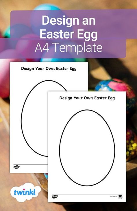 This egg-cellent template is perfect for the lead up to Easter! Let your children get creative and design their own beautiful Easter eggs. Pens, pencils, glitter, felt - everything is allowed! Pop over to Twinkl to download and find more spring-themed crafts and activities.  #design #easter #easteregg #colouring #template #pencils #eastercrafts #crafts #spring #homelearning #home #diy #template #twinkl #twinklresources #parents #parenting