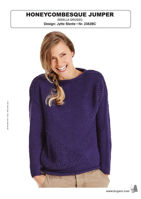 ff3f46478 Honeycombesque Jumper in BC Garn Semilla Grosso - 2382BC - Downloadable  PDF. Discover more patterns by BC Garn at LoveKnitting. The world s largest  range of ...