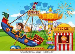 Image Result For Amusement Park Drawing Amusement Parks