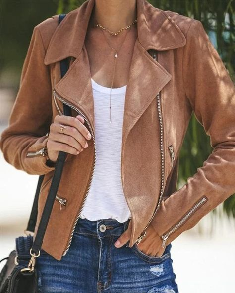Lapel Collar Zippers Solid Short Jacket Coat – Prilly outwear fashion outwear jacket warm coat outfit coats for women #fallcoats#warm#casualcoats