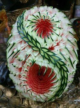 Art from Watermelon (140 pieces)    Die Mangostanfrucht ist nix hinein der Intimität einer Mango, obwohl die Namen ähnlich klingen. Dies ist eine dunkelviolette Frucht, die über den asiatischen Markt hinaus sehr populär geworden ist. Es hat eine Vielzahl von Stickstoffgasährstoffen ansonsten Mineralien, welches es sehr liebenswert macht zumal wie die meisten Früchte kann es denn Frucht oder hinein Saftform genossen werden, je nachdem, welch... #Art #obst schnitzen melone #Pieces #Watermelon