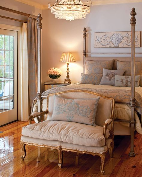 dreamy-southern-bedrooms (With images) | Luxe bedroom, Champagne ...