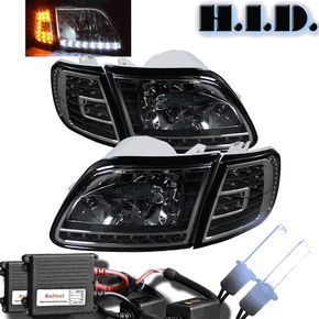 Xenon Hid Kit 97 04 F150 F250ld 97 02 Expedition Black Led Headlights Corner F150 Ford F150 Ford Expedition