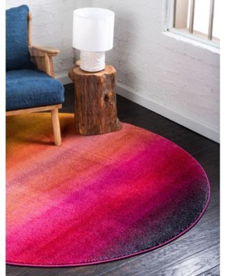 Bridgeport Home Newwolf New1 Pink 8 X 8 Round Area Rug Reviews Rugs Macy S In 2020 Purple Area Rugs Yellow Area Rugs Round Area Rugs