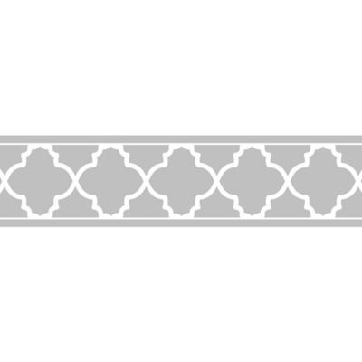 Sweet Jojo Designs Trellis Wallpaper Border In Grey White Bed Bath Beyond Trellis Wallpaper Wallpaper Border Grey Wallpaper Border