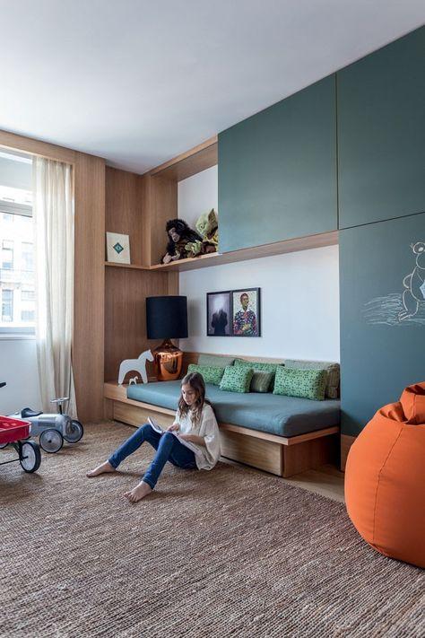 Arthur Casas NY (Foto: Fran Parente) quarto criança lousa madeira