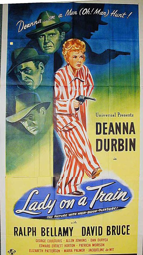 Image result for Lady on a Train 1945 poster