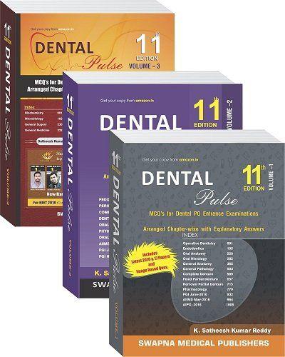 Dental Pulse 11th Edition 3 Volume Set Neet Exam Exam Entrance
