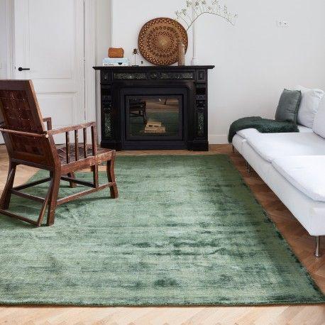 Interieur Ideeen Com.Velours Vloerkleed Groen Velvet Loom In 2020 Vloerkleed Groen