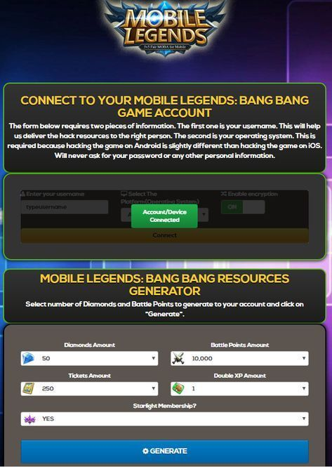 Pin by Reynor Castillo on Android hacks | Mobile legends, App hack
