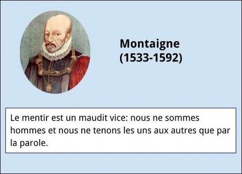 Montaigne Citation Citation Et France