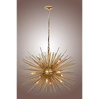 Amazon Com Y Decor Lz3349 12 Light Chandelier In Gold Finish