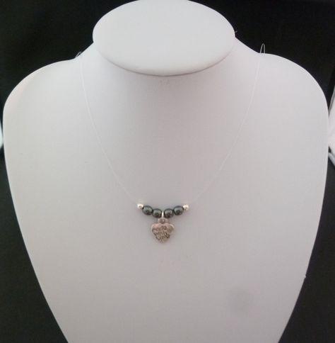 collier transparent femme