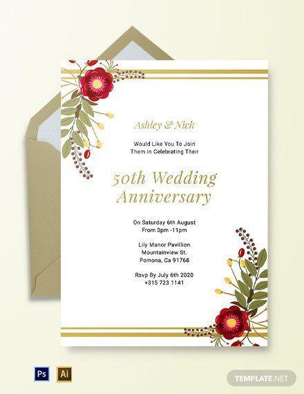 Church Anniversary Invitation Template Free Anniversary Invit In 2020 50th Anniversary Invitations 50th Wedding Anniversary Invitations Wedding Anniversary Invitations