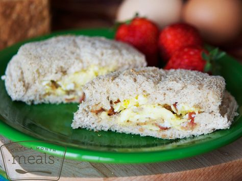 Bacon and Egg Uncrustables | Once A Month Meals | Freezer Cooking | OAMC