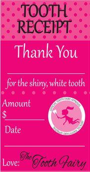 free printable tooth fairy receipt