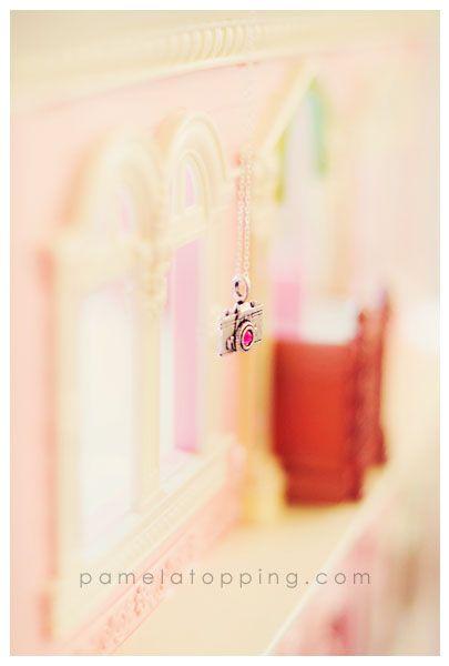 Rockstar pink camera necklace!  Love <3