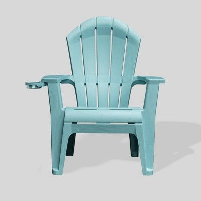 Deluxe Realcomfort Adirondack Chair Turquoise Adams Manufacturing In 2020 Adirondack Chairs Patio Plastic Adirondack Chairs Patio Chairs