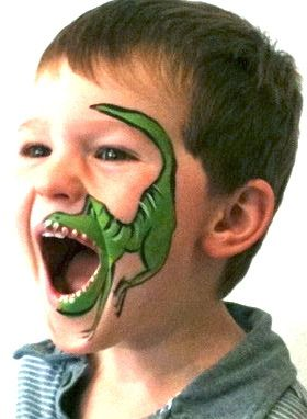 Dinosaur Face Painting for kids' party Birthday Party Themes, Boy Birthday, Elmo Party, Mickey Party, Dinosaur Face Painting, Festa Jurassic Park, Dinosaur Crafts, Dinosaur Dinosaur, Dinosaur Party Activities
