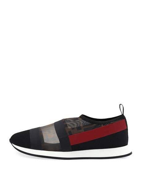 Fendi Runway Mesh FF Trainer Sneakers