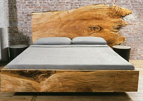 custom slab wood beds materials solid timber slab dimensions per style please inquire options this piece is custom made to order please - Natrliche Hickory Holzbden