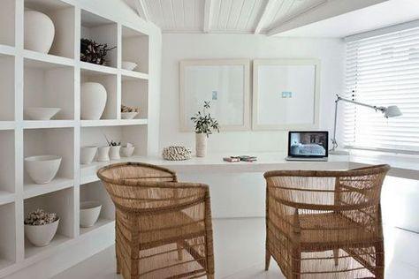Blanc dominant pour une maison à vivre home decor pinterest