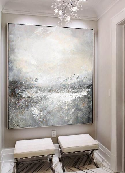 Large Abstract Sea Painting Sea Landscape Painting Original Sky