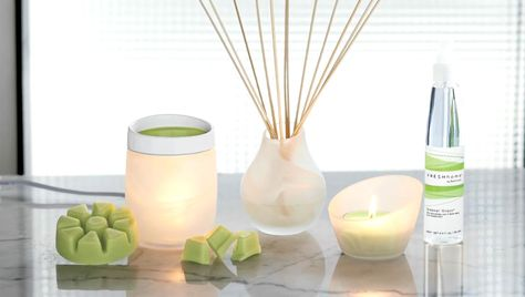 Fresh Home by PartyLite would be a wonderful addition to any space. This  product line features frosted glass pieces. These pieces are a ScentGlow W  ...