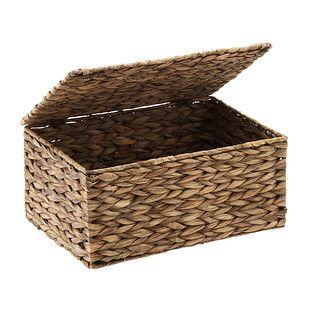 Small Mocha Water Hyacinth Storage Box