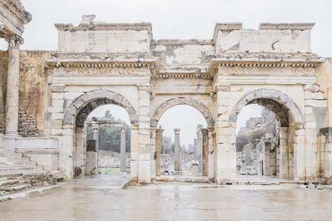 Ephesus Photo, Greek and Roman Ruins, Travel Photography, Greek Ruin Decor, Ancient City Art, Medite