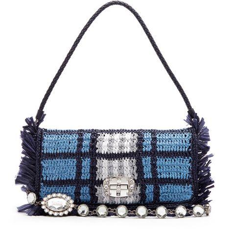 Stella McCartney|Crochet Big Tote in White Gehaakte tassen