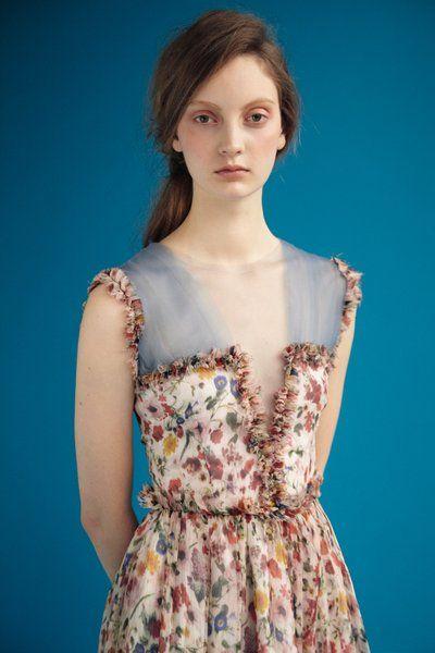 tulle chiffon sleeveless dress. rodarte
